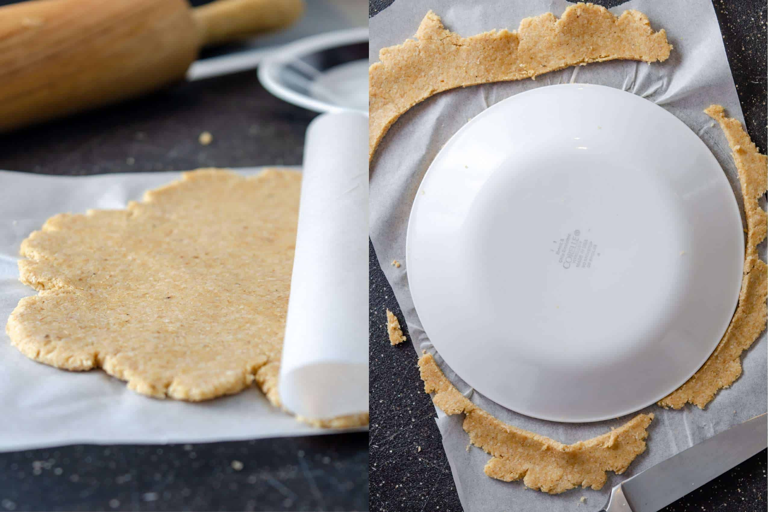 Directional image, how to form keto tortillas