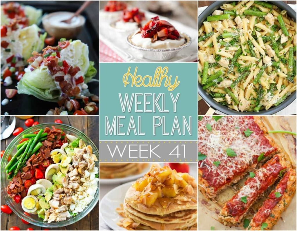 Healthy Weekly Meal Plan 41
