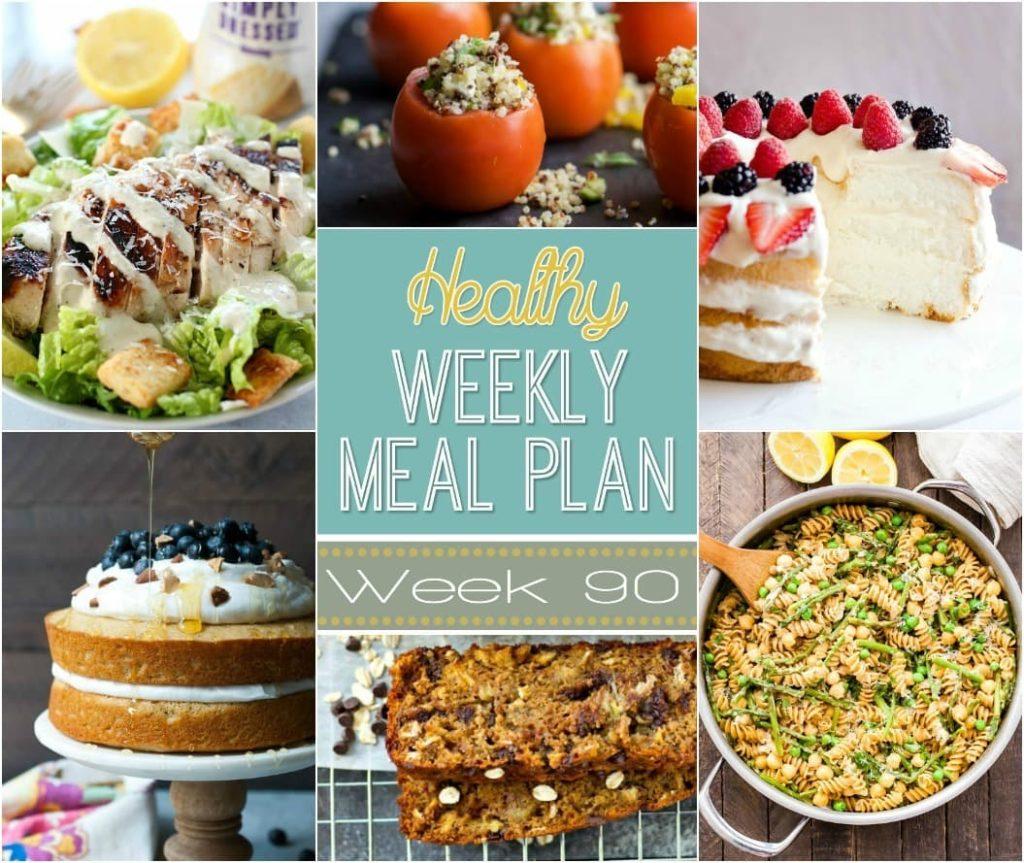 Healthy Weekly Meal Plan 90
