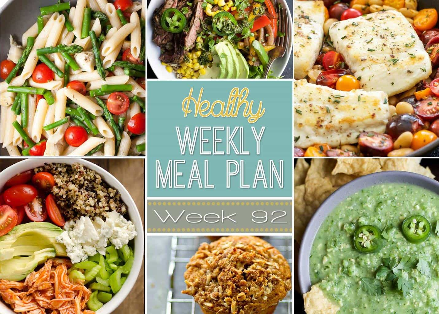 Healthy Weekly Meal Plan 92