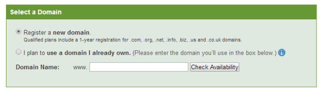 Select a domain; create website with wordpress tutorials