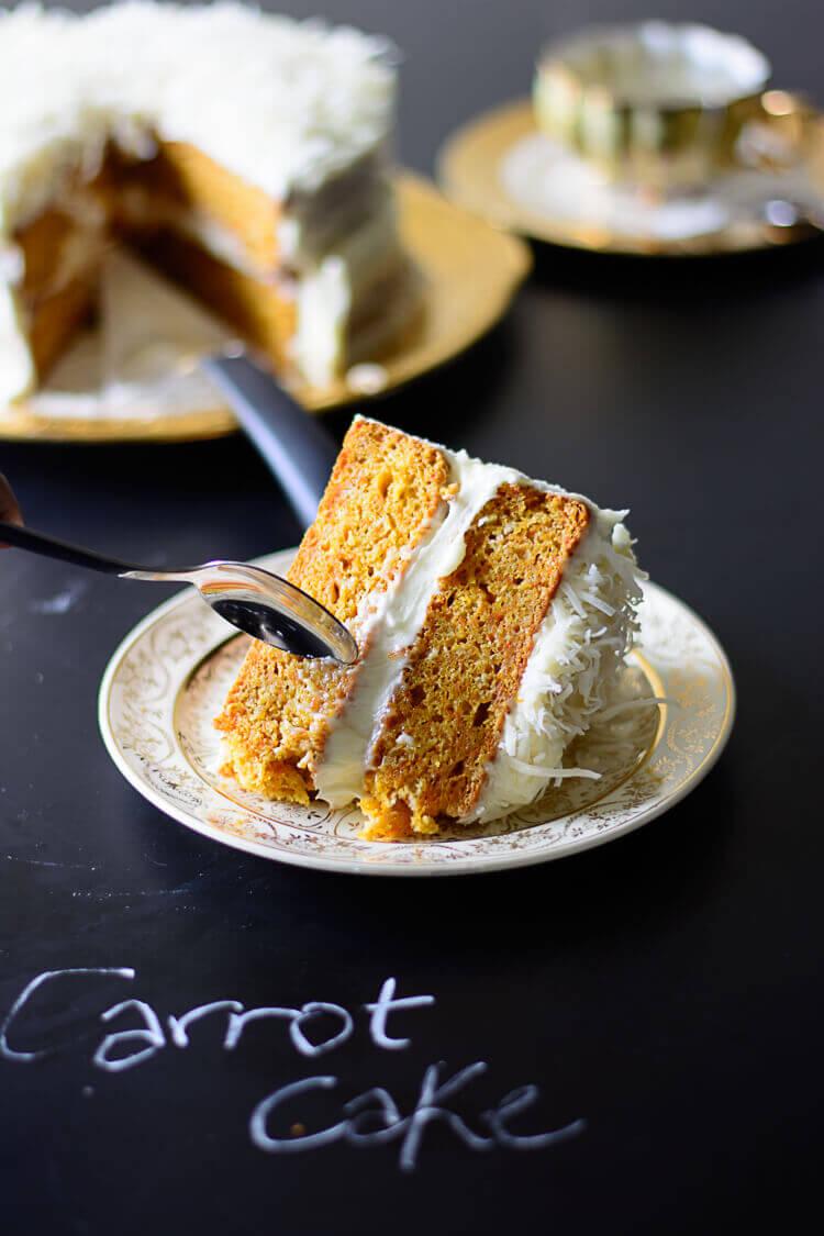 Moroccan Ras El Hanout Spiced Carrot Cake