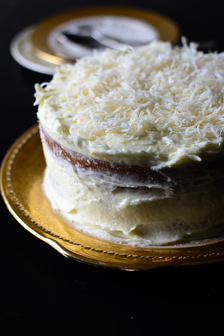 Moroccan Ras El Hanout Spiced Carrot Cake - Close Up