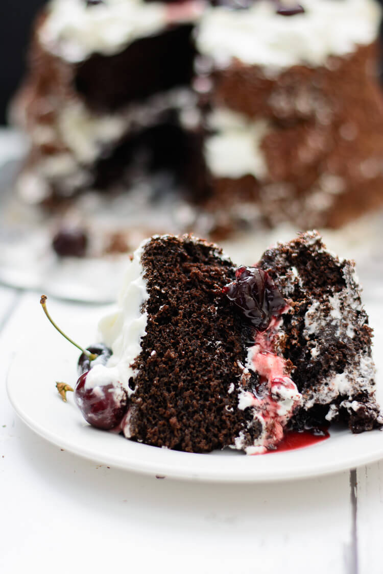 Best Black Forest Cake - Heaven on a plate!!