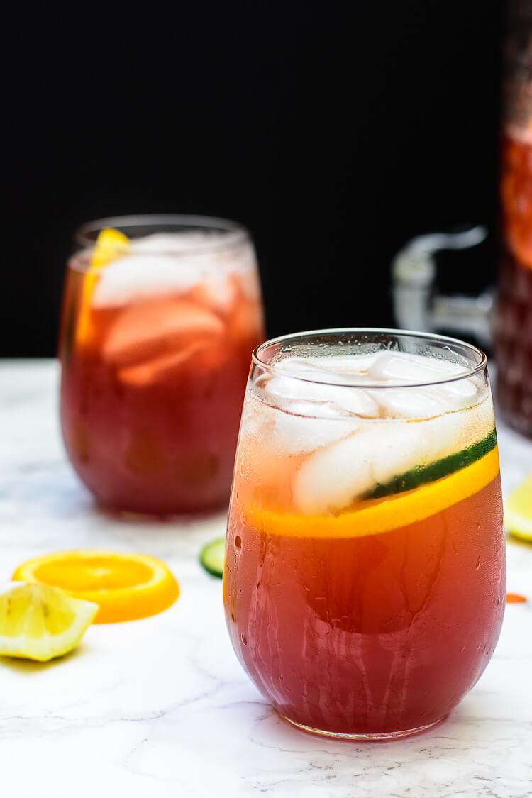 Nigerias Favorite Mocktail Chapman Drink - 2 glass shot