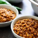 Nigerian Beans Porridge (Ewa Oloyin) - 3 dishes of the delicious beans porridge and a pot