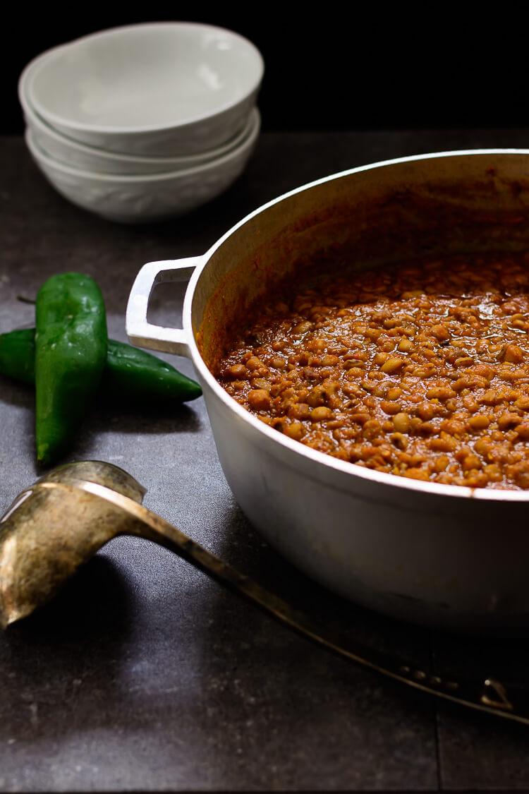Nigerian Beans Porridge (Ewa Oloyin) - A pot of the beans porridge