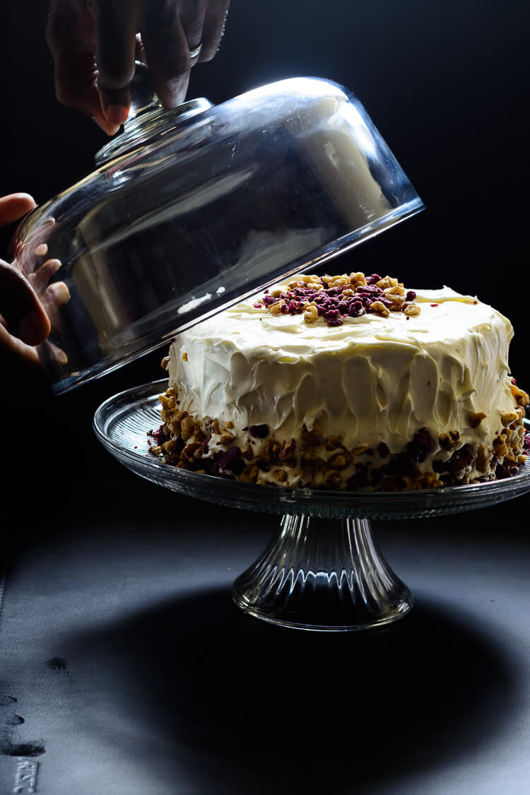 Purple Sweet Potato Cake with Marshmallow Cream Cheese Frosting - The unveiling!!!