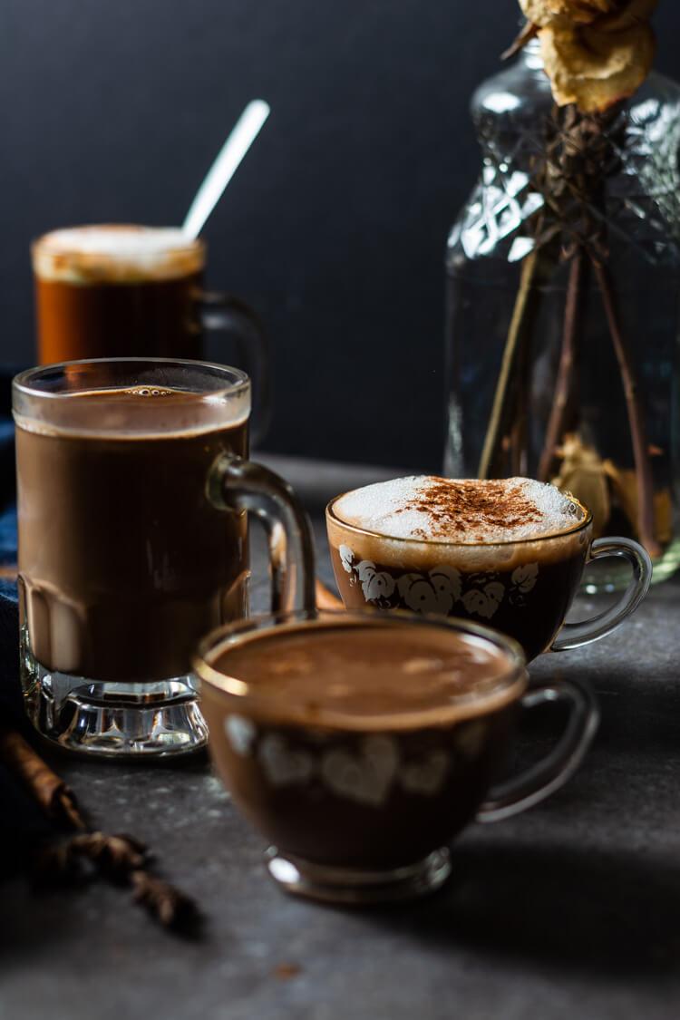 Haitian Hot Chocolate: Big mug and cup of haitian comfort in focus