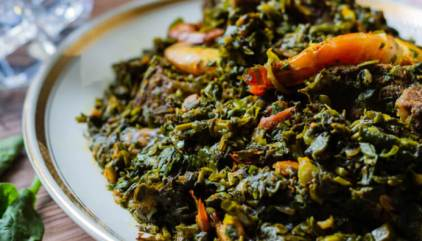 Afang Soup: A Delicious Ibibio Vegetable Stew - Yummy Medley