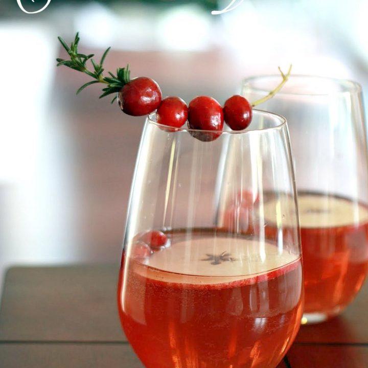 Quick Sparkling Cranberry Sangria