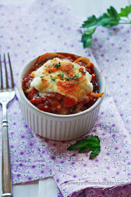 Spaghetti pie is a warm and comforting kid friendly meal that's perfect for using leftover spaghetti.