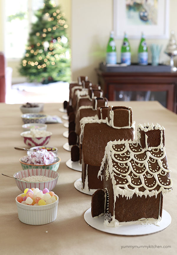 How To Make A Gingerbread House Throw A Decorating Party Yummy Mummy Kitchen