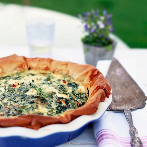 Spanakopita Quiche with Filo Crust