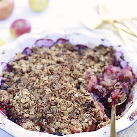 Easy Blueberry Apple Crisp