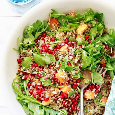 Quinoa and Lentil Salad with Butternut Squash