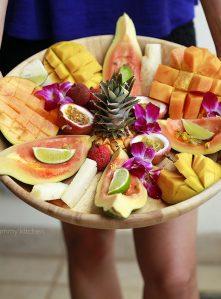 A beautiful Hawaiian tropical fruit platter