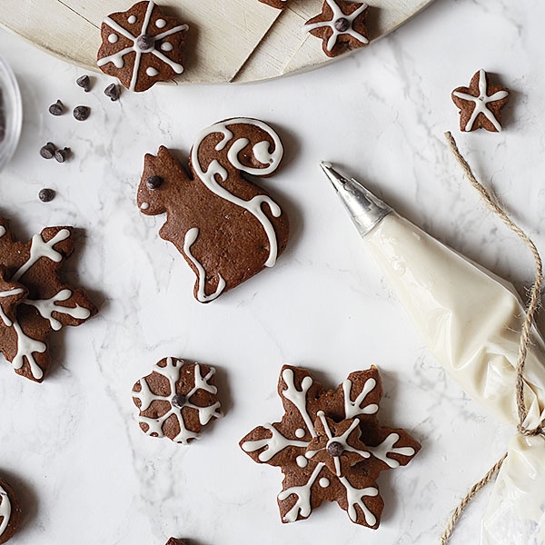 The perfect vegan gingerbread cut-out cookies made with coconut oil and wholesome ingredients.