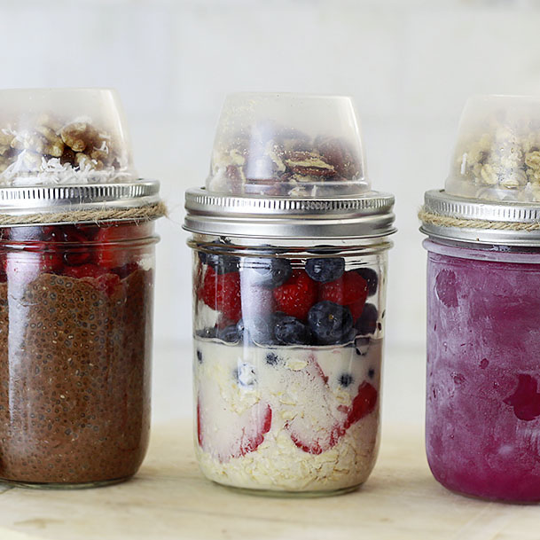 How to make a breakfast or snack jar for later.