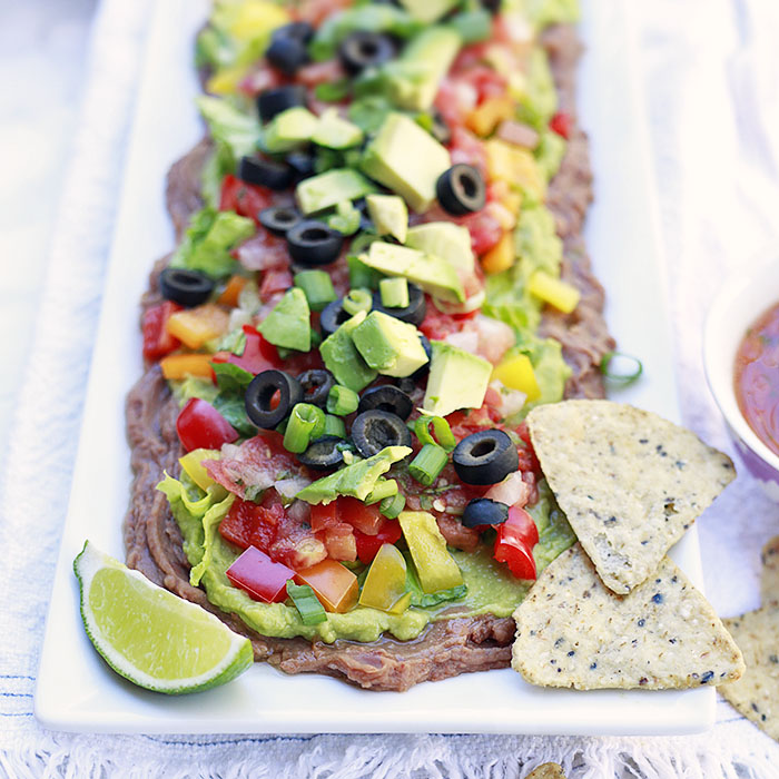 Vegetarian Layered Bean Dip