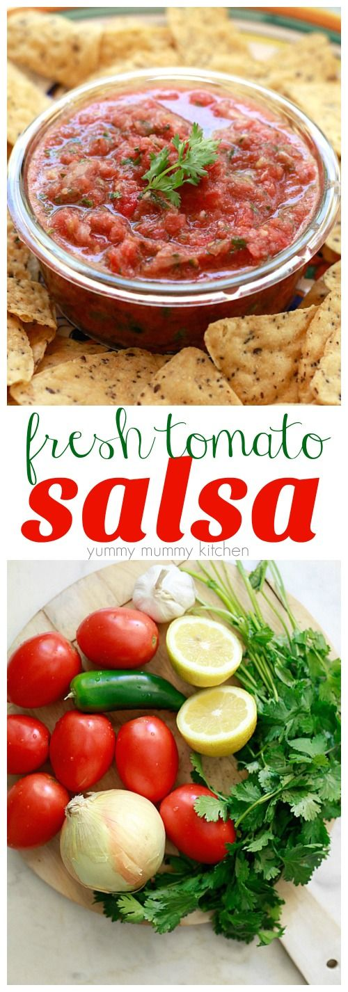Find out how to make salsa with fresh tomatoes! This quick and easy salsa recipe is made in the blender. Homemade salsa is so delicious with all your favorite Mexican recipes.