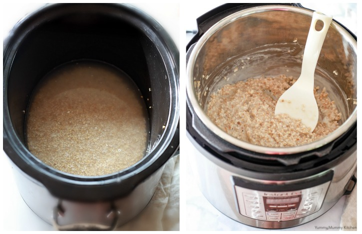 Steel cut oats are so easy to make in the slow cooker crock pot or Instant Pot pressure cooker.