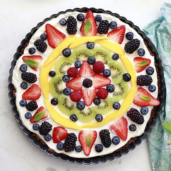 breakfast fruit tart