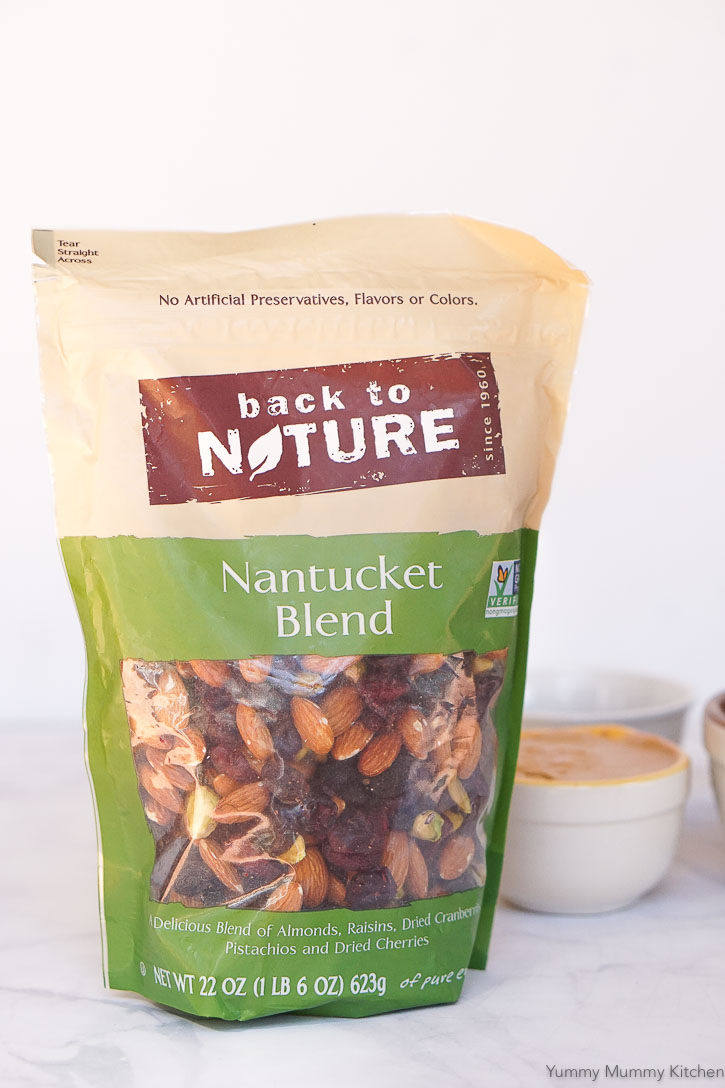 Bag of Back to Nature Nantucket Blend trail mix.