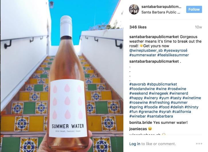 Summer water rose wine from the Santa Barbara Public Market