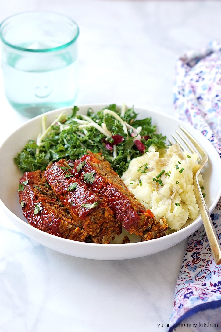 This lentil loaf is like a vegan version of the classic meatloaf.