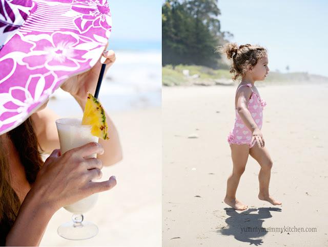 Pina Coladas on the Beach