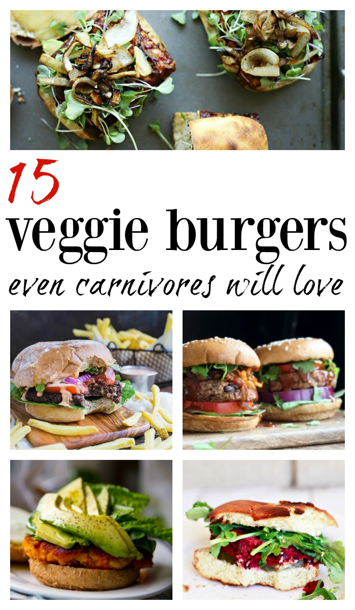 Delicious, hearty, vegan and vegetarian veggie burger recipes