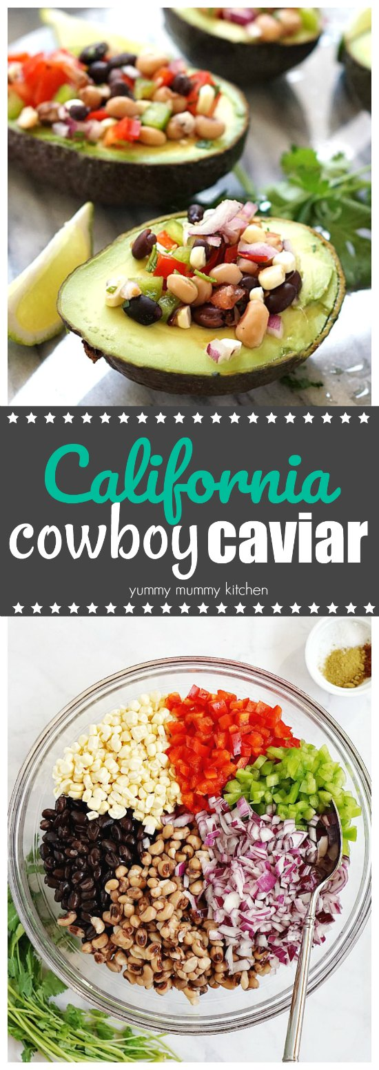 This delicious cowboy caviar recipe is perfect as a salsa for parties or as a bean salad with dinner.