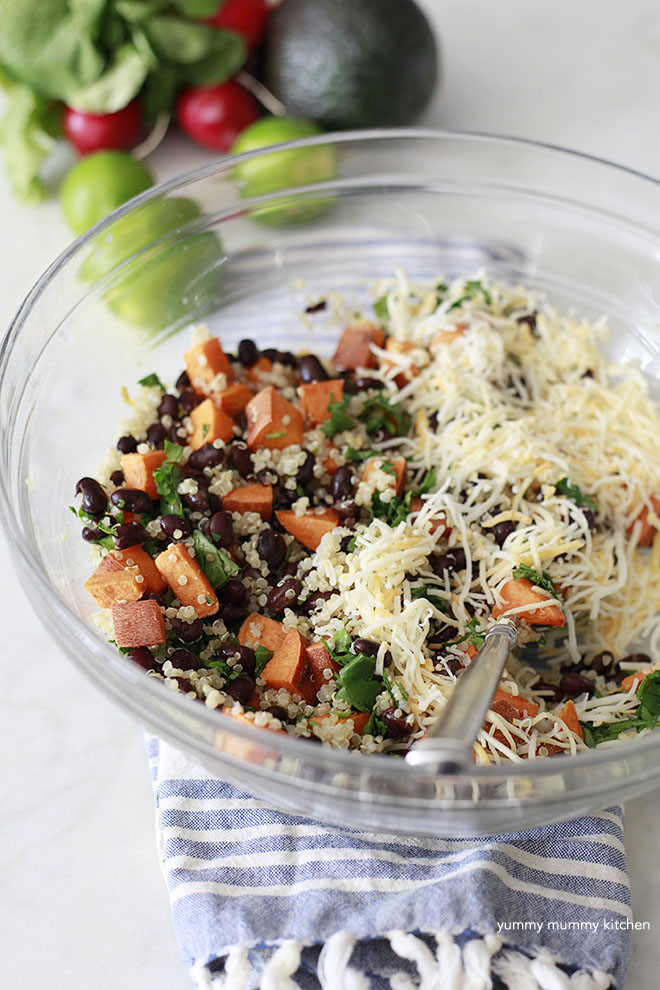 Quinoa, Sweet Potato, and Black Beans