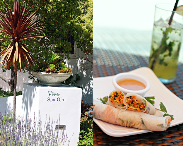 The Spa Cafe at Ojai Valley Inn and Spa with spring rolls.
