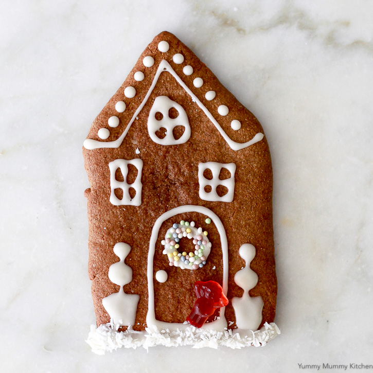 This almond flour gingerbread cookie recipe is perfect for gingerbread houses, people, or snacking!
