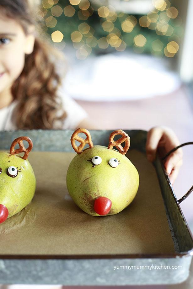 Pear Reindeer
