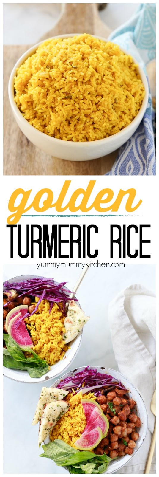 Spiced Indian turmeric rice is so easy in the Instant Pot pressure cooker or rice cooker. Golden turmeric rice is perfect with Buddha bowls and many other dishes. This recipe is naturally vegan and gluten free.