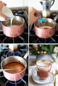 how to make a skinny hot chocolate, mocha, or peppermint mocha