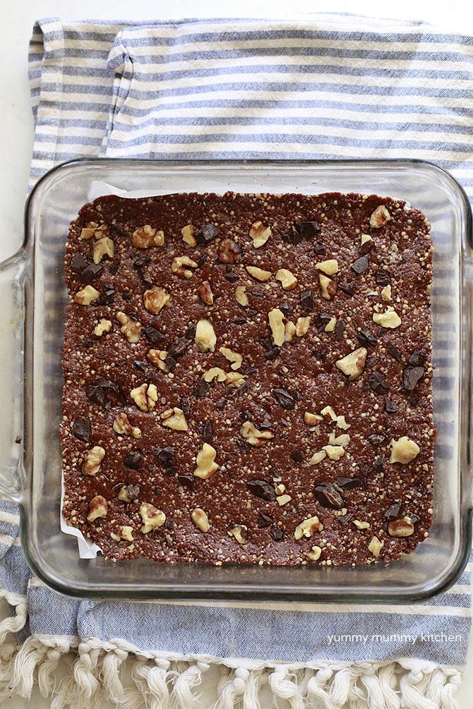 vegan brownie energy bar recipe