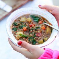 Instant Pot Pressure Cooker Lentil Soup