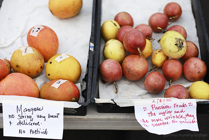 tropical fruit at the Koloa Kauai farmers market