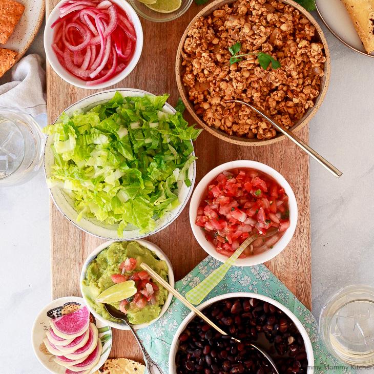 Easy tempeh tacos make a delicious Mexican vegan dinner.