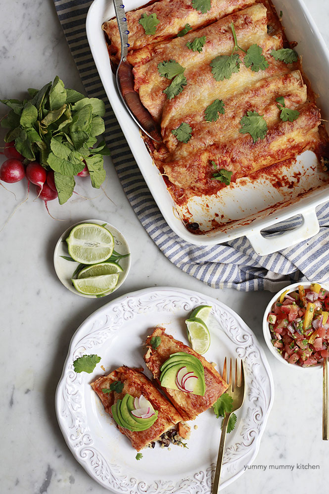Sweet Potato Black Bean Enchiladas