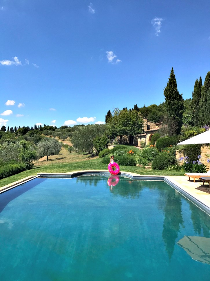 A beautiful Tuscan vacation home and pool. Find out how to rent a home in Tuscany for a month long family vacation.