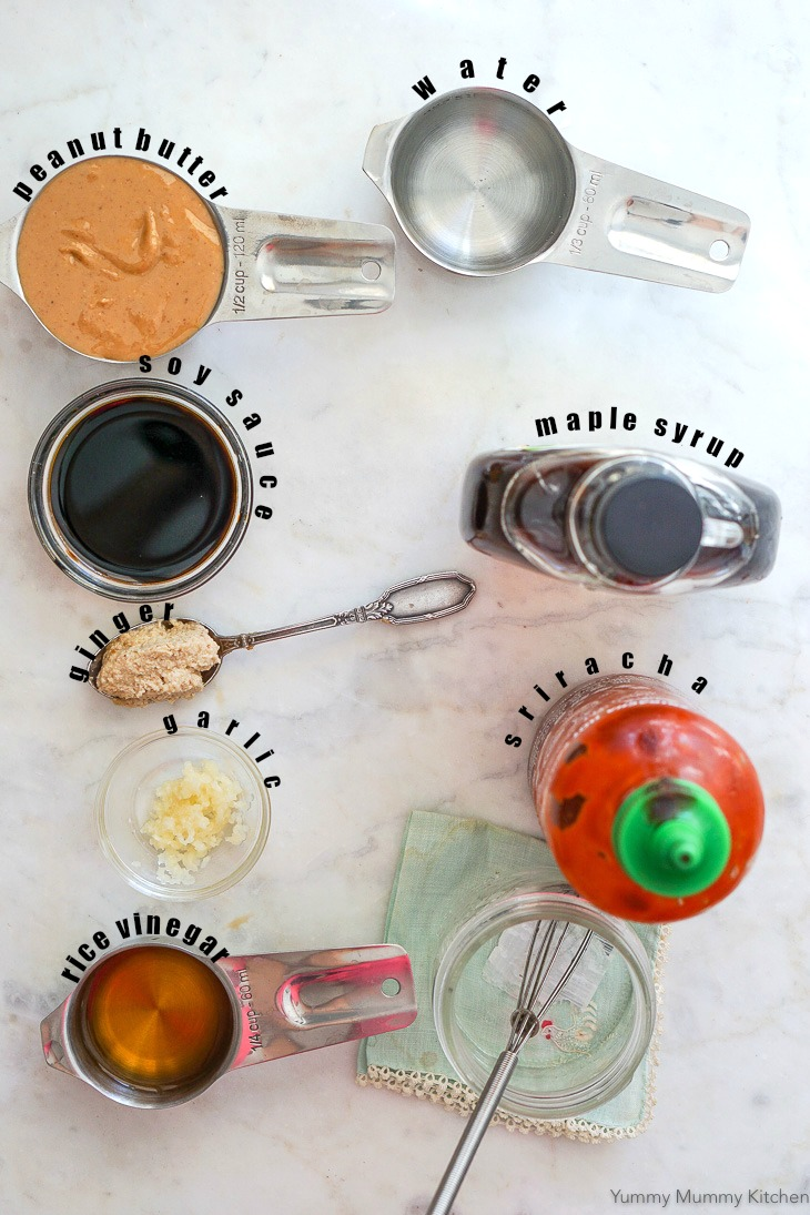 Find out how to make homemade Thai peanut sauce with these simple ingredients.