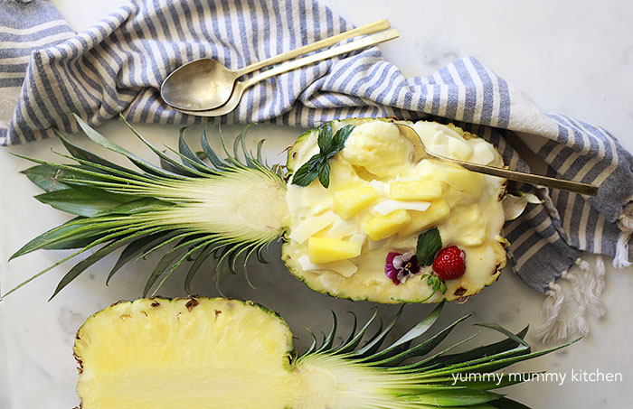 vegan pineapple ice cream