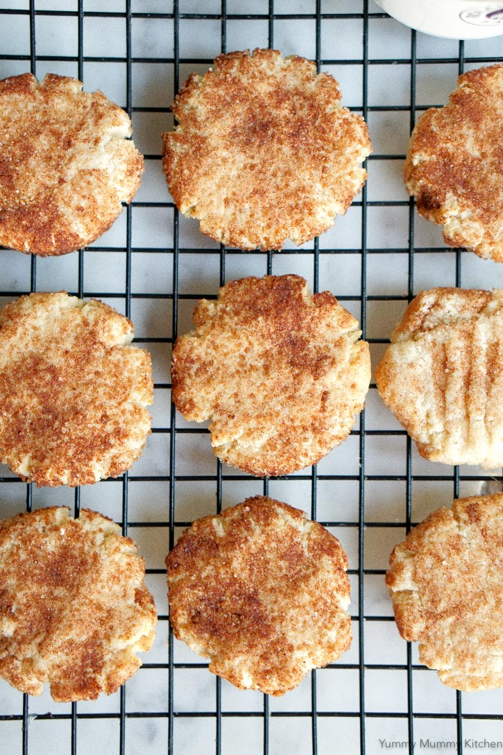 These healthier snickerdoodles are made with almond flour!