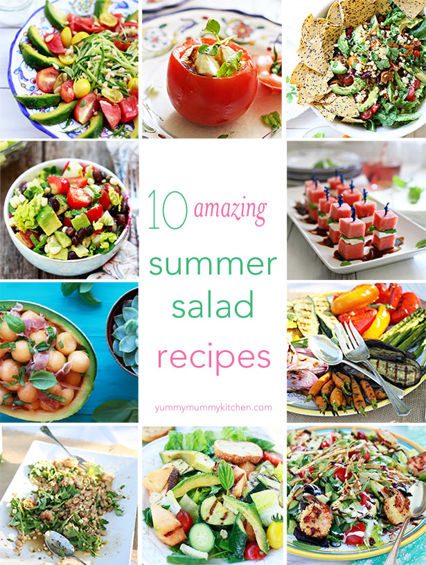 Over 10 delicious summer salad recipes.