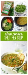 How to make vegetarian and vegan split pea soup in the slow cooker crockpot. This delicious, healthy, and easy split pea soup is a family favorite dinner.